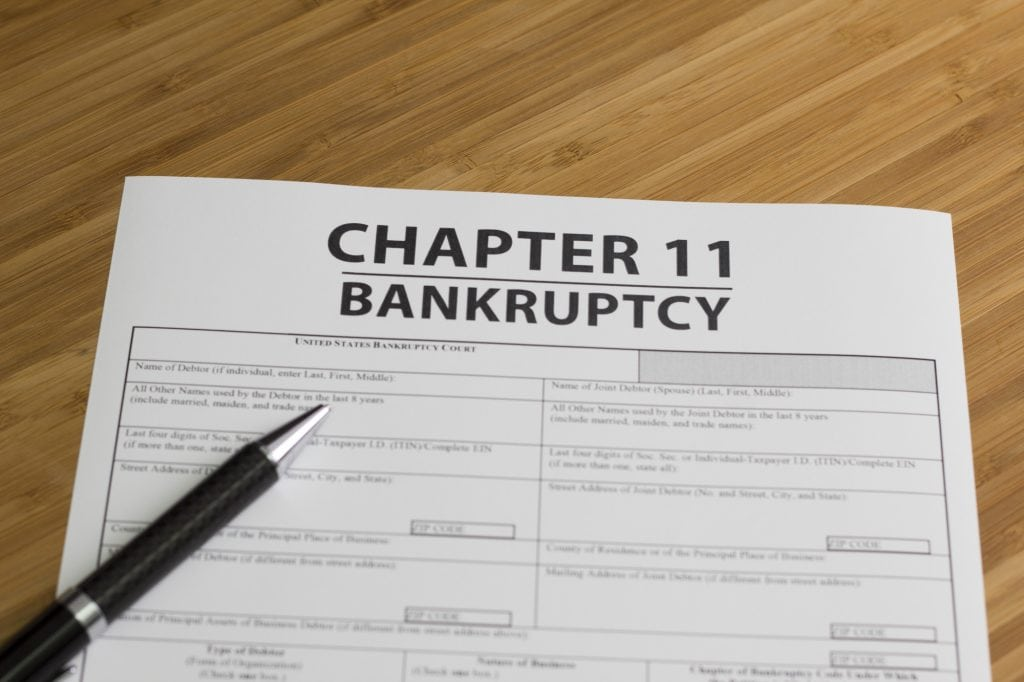 chapter 11 bankruptcy 47.9790° N, 122.2021° W